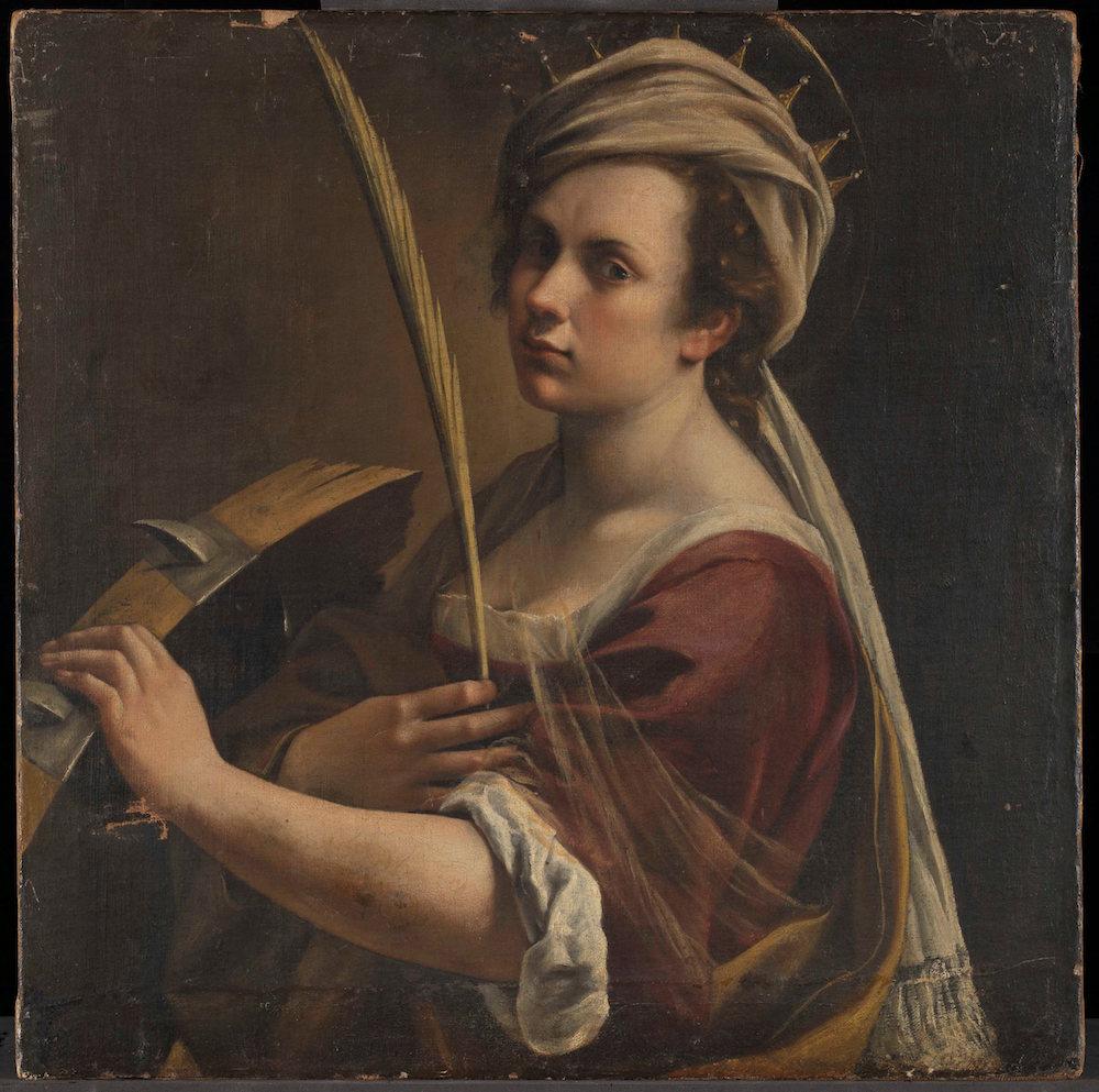 Artemisia Gentileschi (1593 – 1654 or later) Self Portrait as Saint Catherine of Alexandria about 1615-17