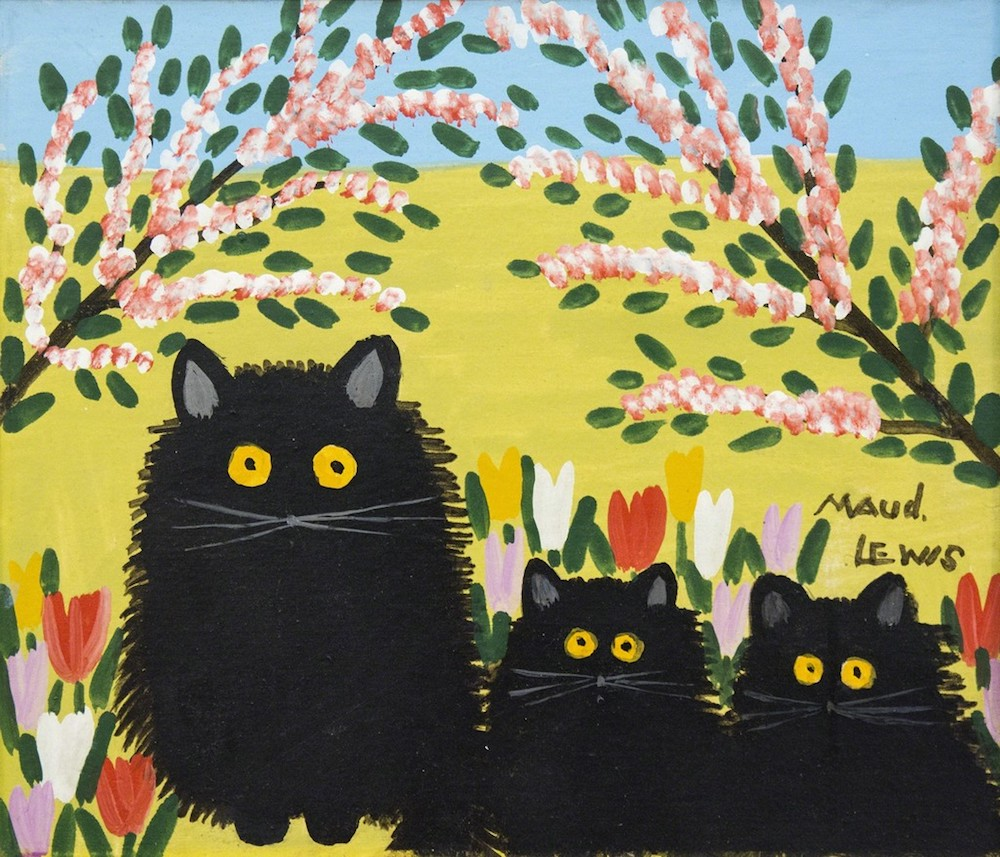 Maud Lewis Black Cats Oeno Gallery Painting