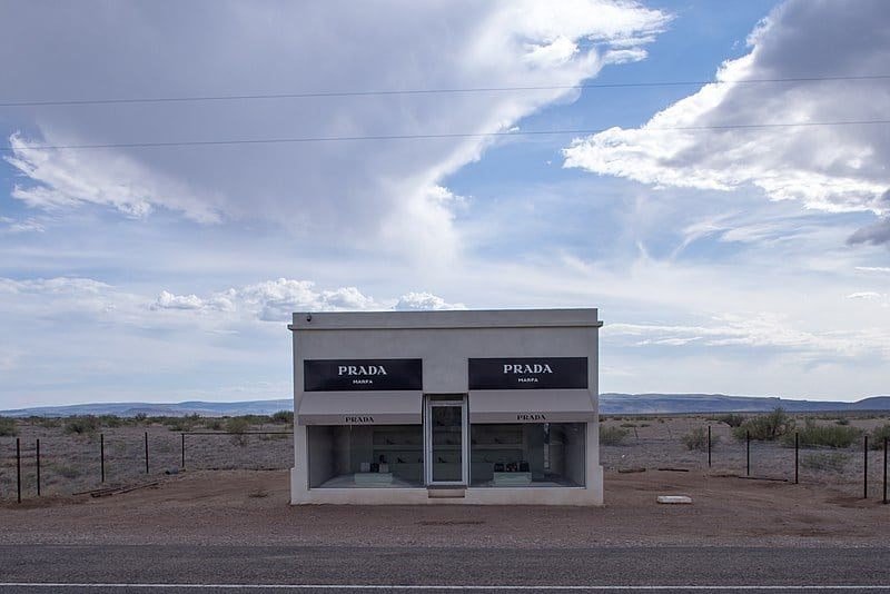 Prada, Marfa, Texas. Photo by Mathieu Lebreton