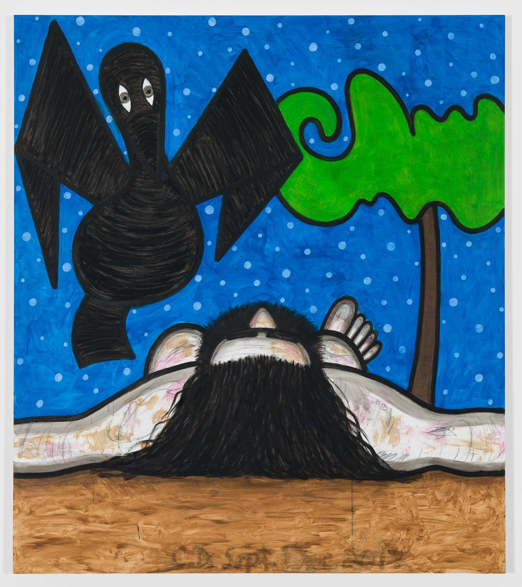 Carroll Dunham Left for Dead (2), 2017. © Carroll Dunham. Courtesy the artist and Gladstone Gallery, New York and Brussels