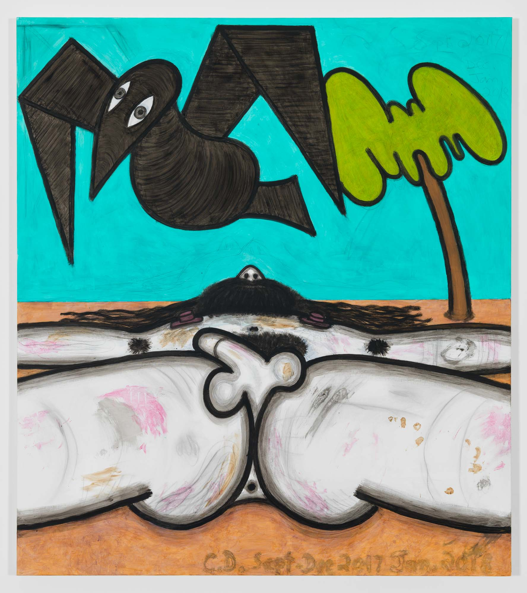 Carroll Dunham Left for Dead (3), 2017-2018. © Carroll Dunham. Courtesy the artist and Gladstone Gallery, New York and Brussels