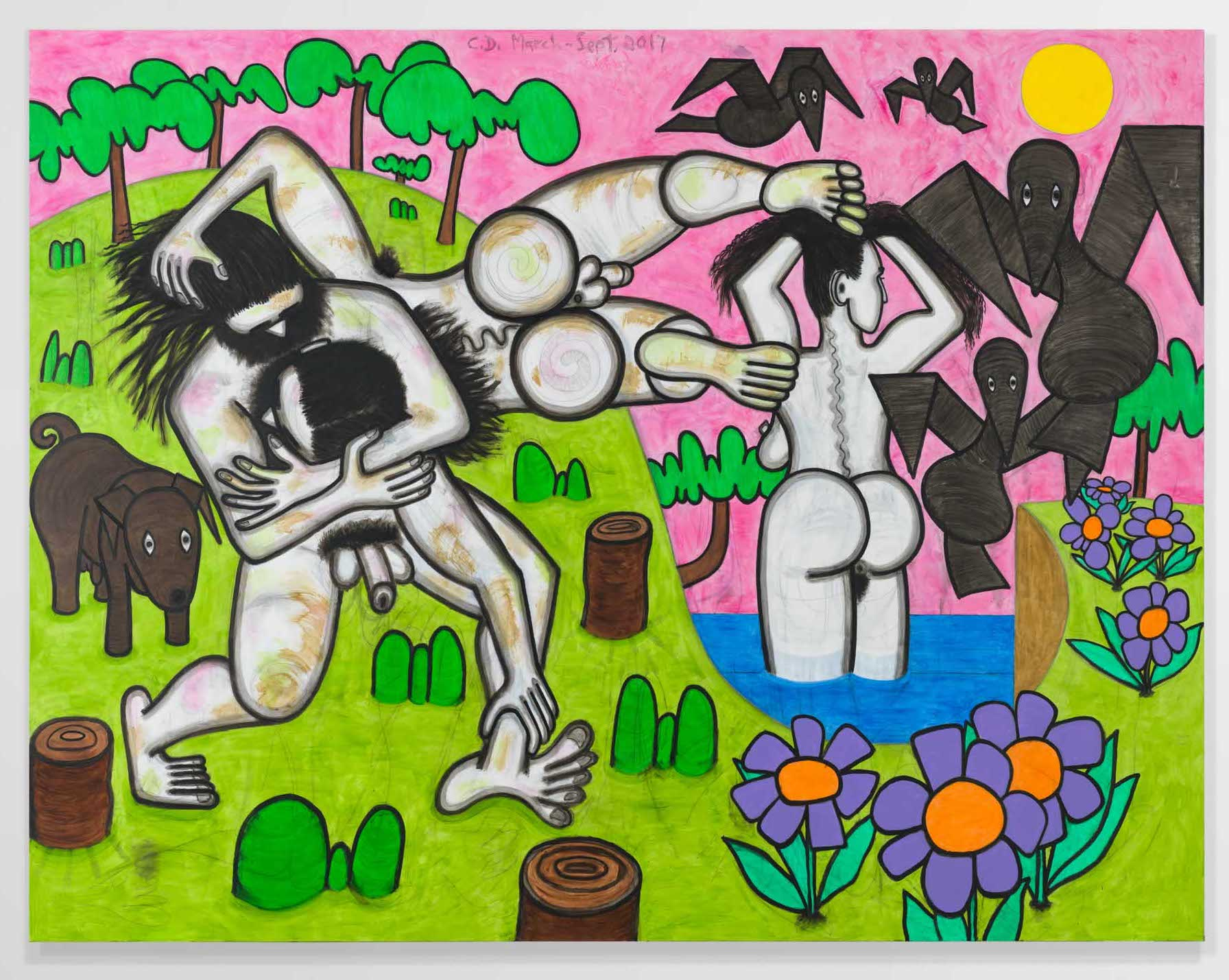Carroll Dunham Any Day, 2017, © Carroll Dunham. Courtesy the artist and Gladstone Gallery, New York and Brussels