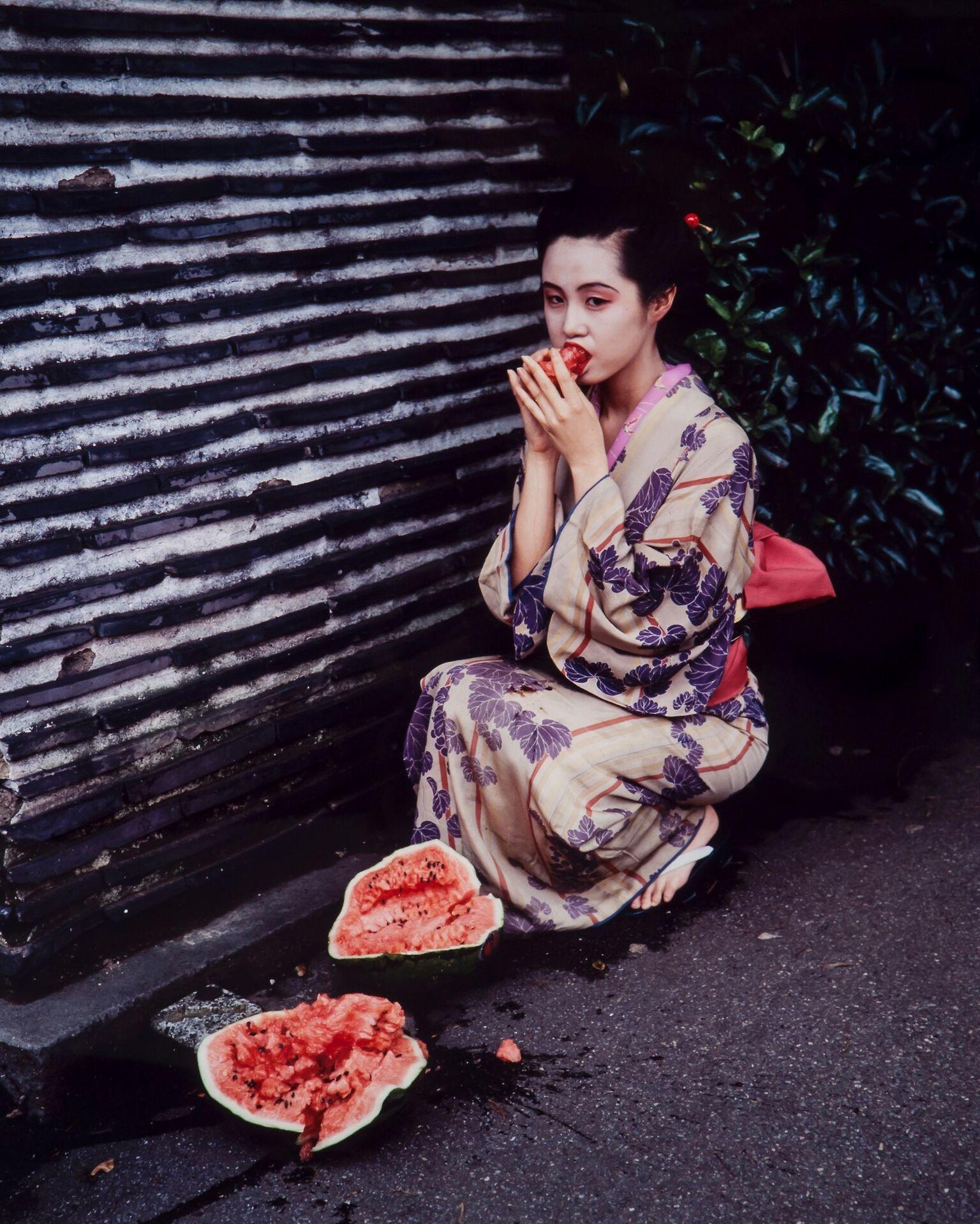 Nobuyoshi Araki, Colourscapes, 1991, C-print. Museum of Sex Collection