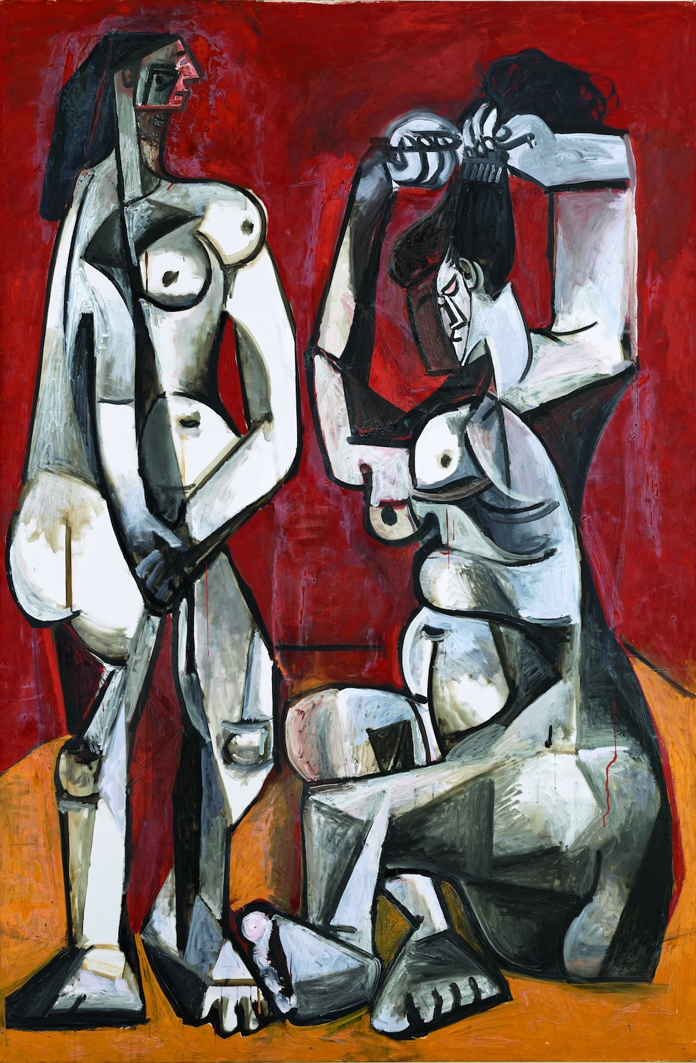 Pablo Picasso (1881-1973), Women at Their Toilette, Cannes, January 4, 1956. © Estate of Picasso / SODRAC (2018). Photo © RMN-Grand Palais / Art Resource, NY / Mathieu Rabeau