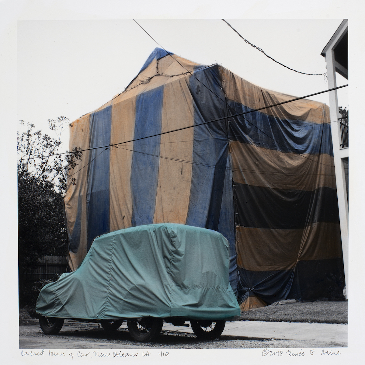 Renee Allie, Covered House & Car, New Orleans, LA, 2018. Collection of the artist. Courtesy of Ogden Museum of Southern Art