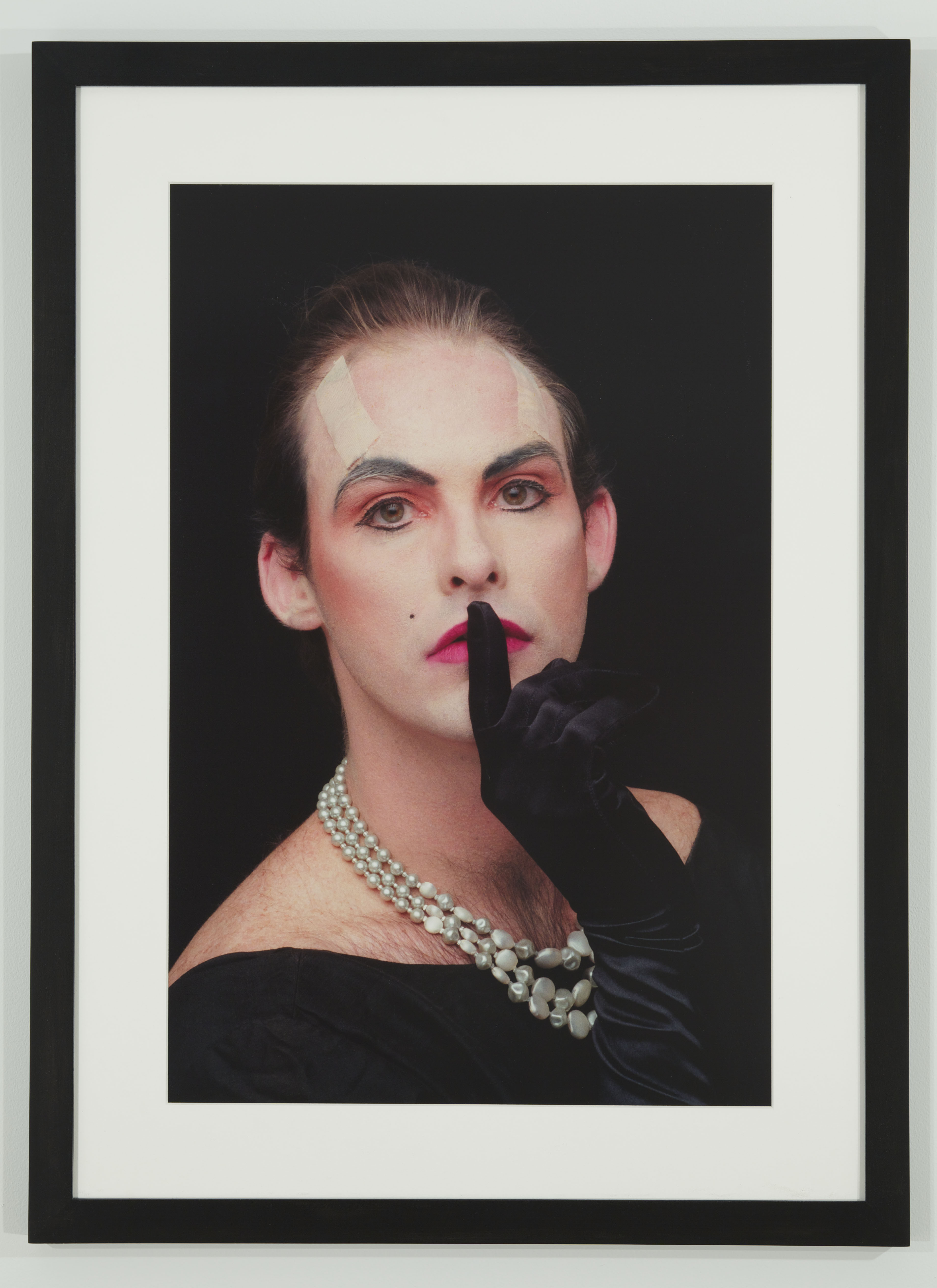 Hunter Reynolds, Shhh (from Patina du Prey Drag Pose Series), 1990/2012. Photo by Michael Wakefeld. Courtesy the artist, P.P.O.W and Hales Gallery