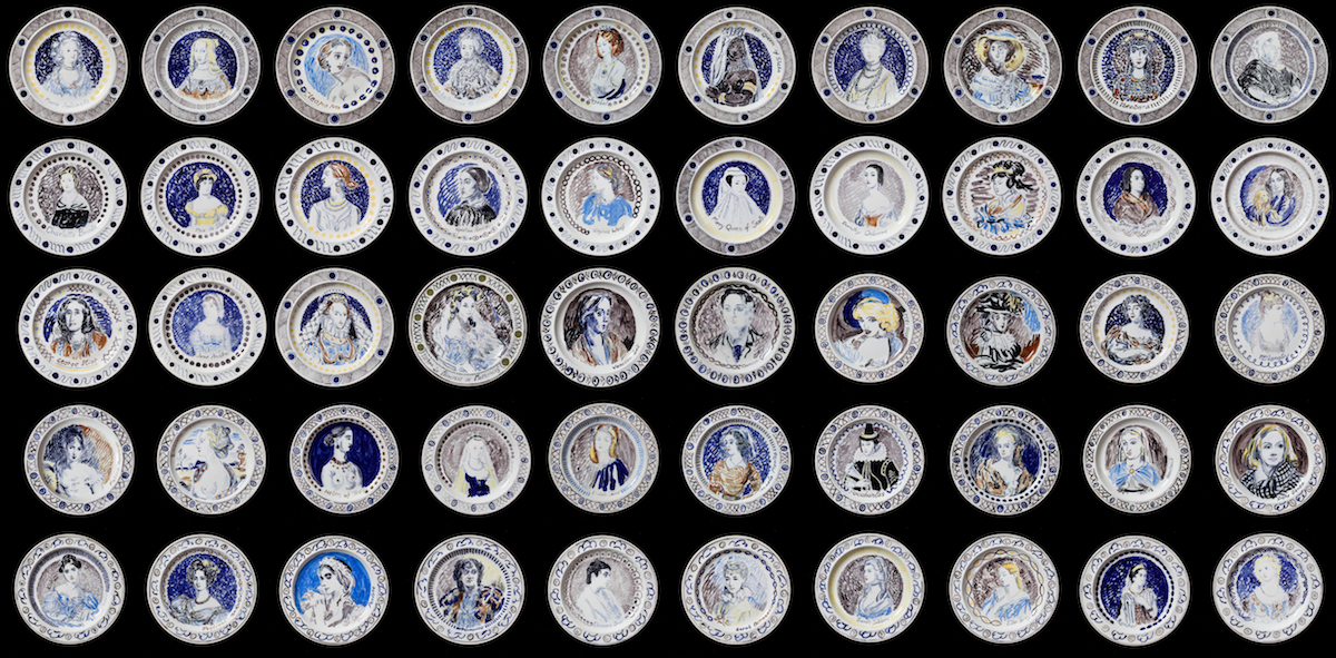 Vanessa Bell and Duncan Grant, Famous Women Dinner Service, 1932. Courtesy PIANO NOBILE, Robert Travers (Works of Art) Ltd.