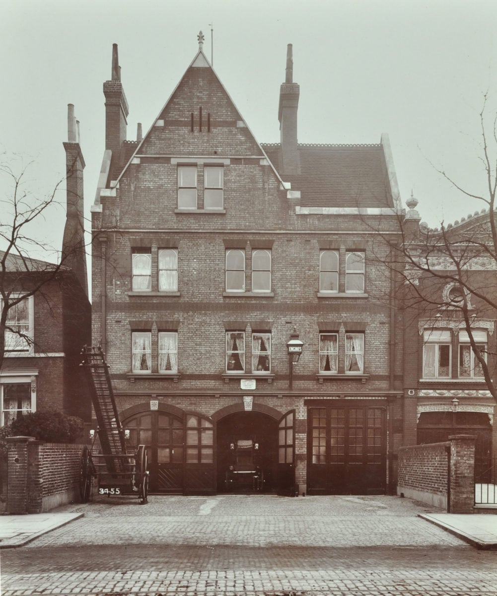 1.Peckham Road Fire Station, 1905. London Metropolitan Archives, City of London