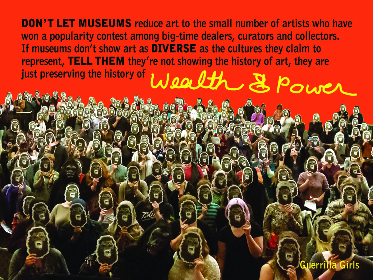 Guerrilla Girls, Wealth & Power, 2016. Courtesy Guerrilla Girls