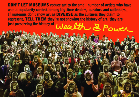 Guerrilla Girls, Wealth & Power, 2016. Courtesy guerrillagirls.com