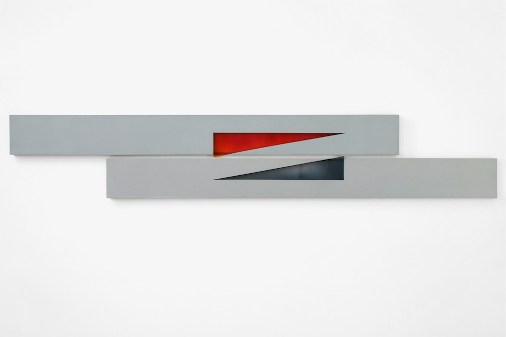 Two Section Horizontal, 1970. Coach paint on fibreglass and resin
