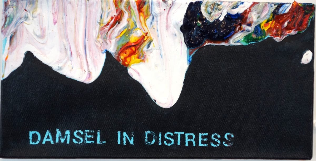 Betty Tompkins, Damsel in Distress, 2013. Courtesy of the artist and P.P.O.W