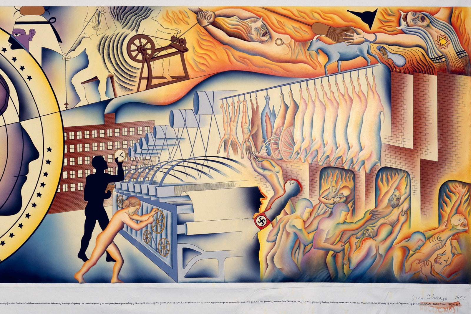 Judy Chicago, Cartoon for the Fall from the Holocaust Project, 1987. Jessica Silverman Gallery, San Francisco and Salon 94, New York. Courtesy Expo Chicago