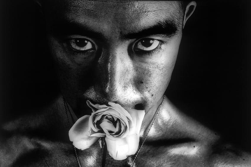 Eikoh Hosoe, Rose Penalty Mishima Yukio. Courtesy See + Gallery, Beijing