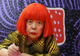 Portrait of Yayoi Kusama courtesy Victoria Miro