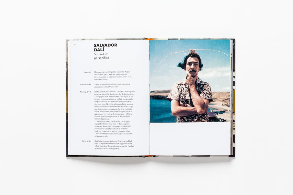 Salvador Dali, from Sartorial: The Art of Looking Like an Artist, by Katerina Pantelides, published by Laurence King