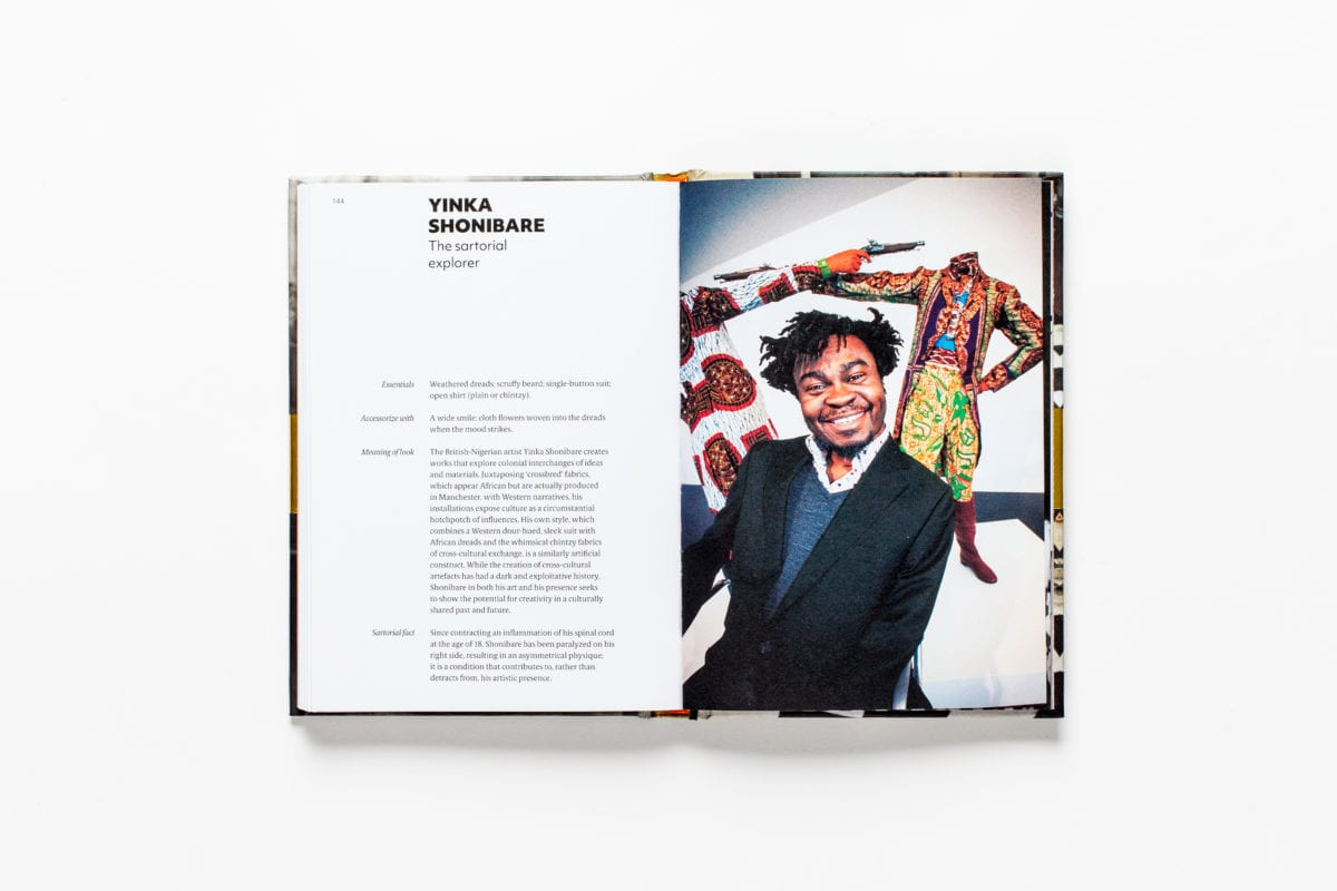 Yinka Shonibare, from Sartorial: The Art of Looking Like an Artist, by Katerina Pantelides, published by Laurence King