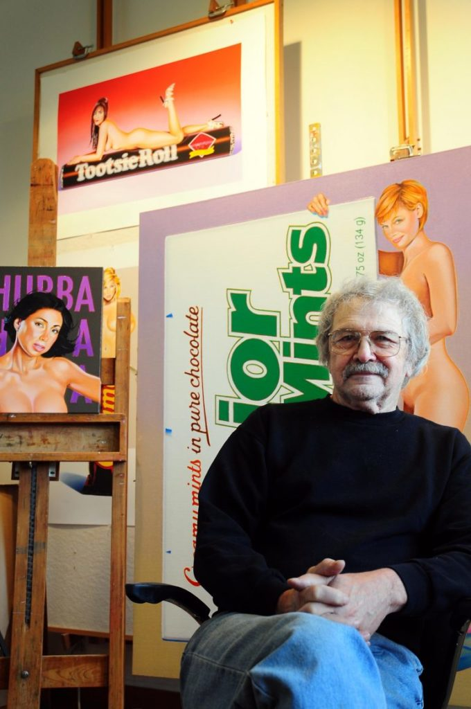 Mel Ramos in his studio in 2012. Photo courtesy of the Crocker Art Museum, Sacramento.