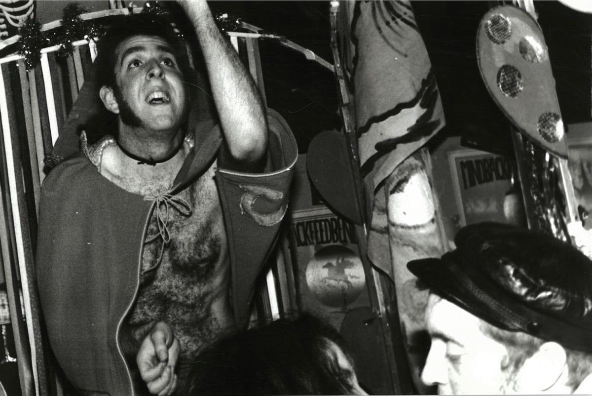 Simon dancing, The Frat Shack, Rails Euston, 1992