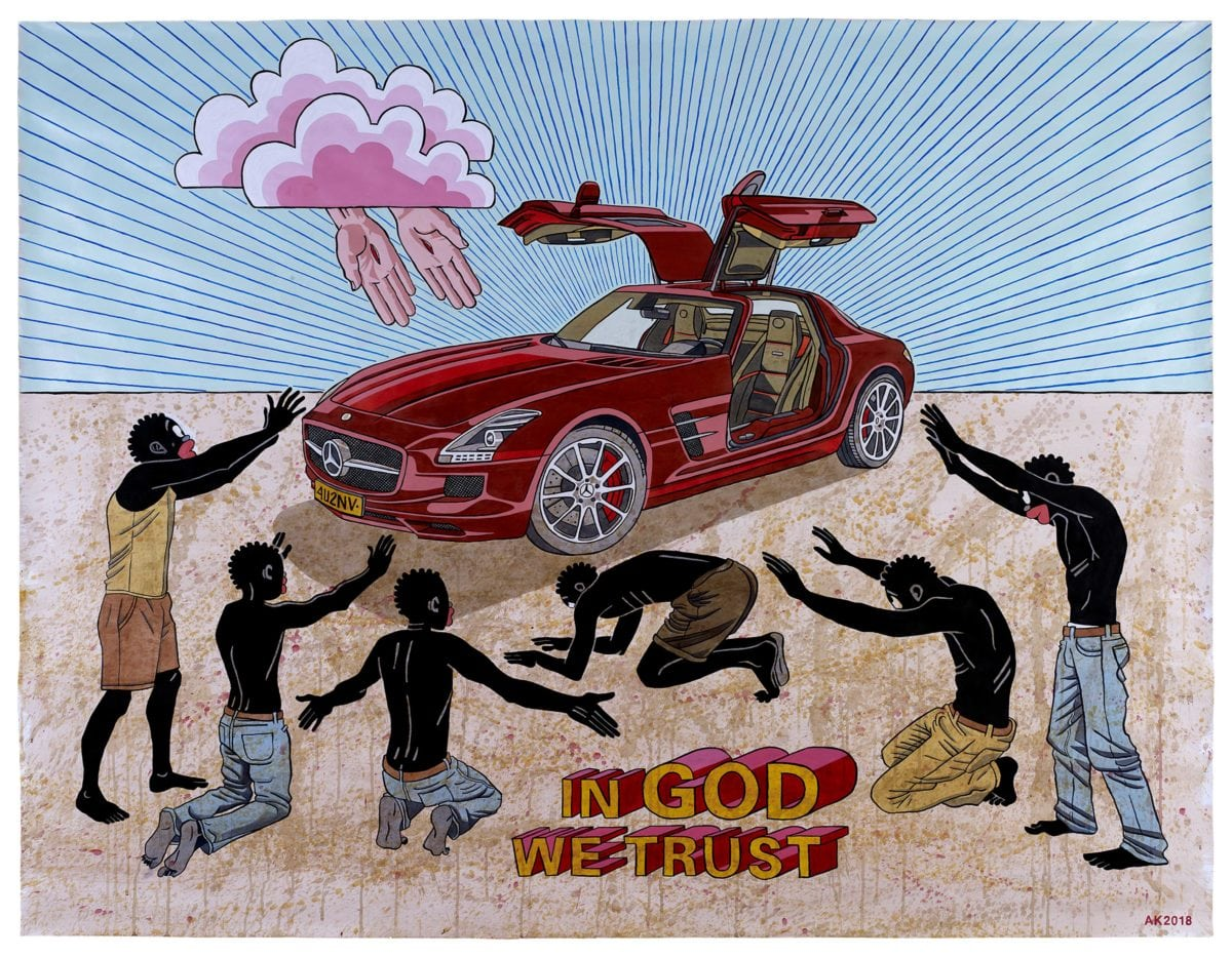Anton Kannemeyer, In God We Trust, 2018 with Huberty & Breyne Gallery