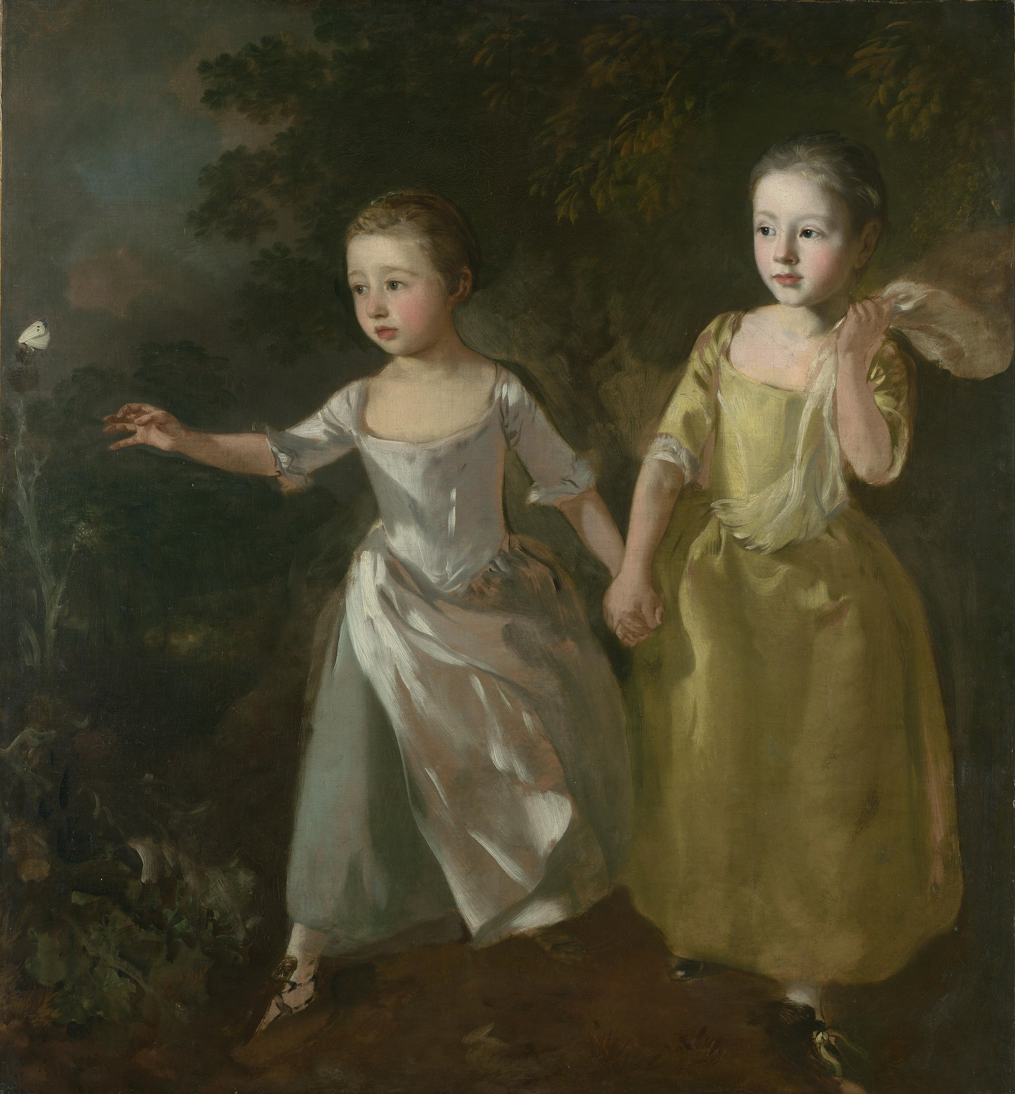 Thomas Gainsborough, The Painter's Daughters chasing a Butterfly, c1756,