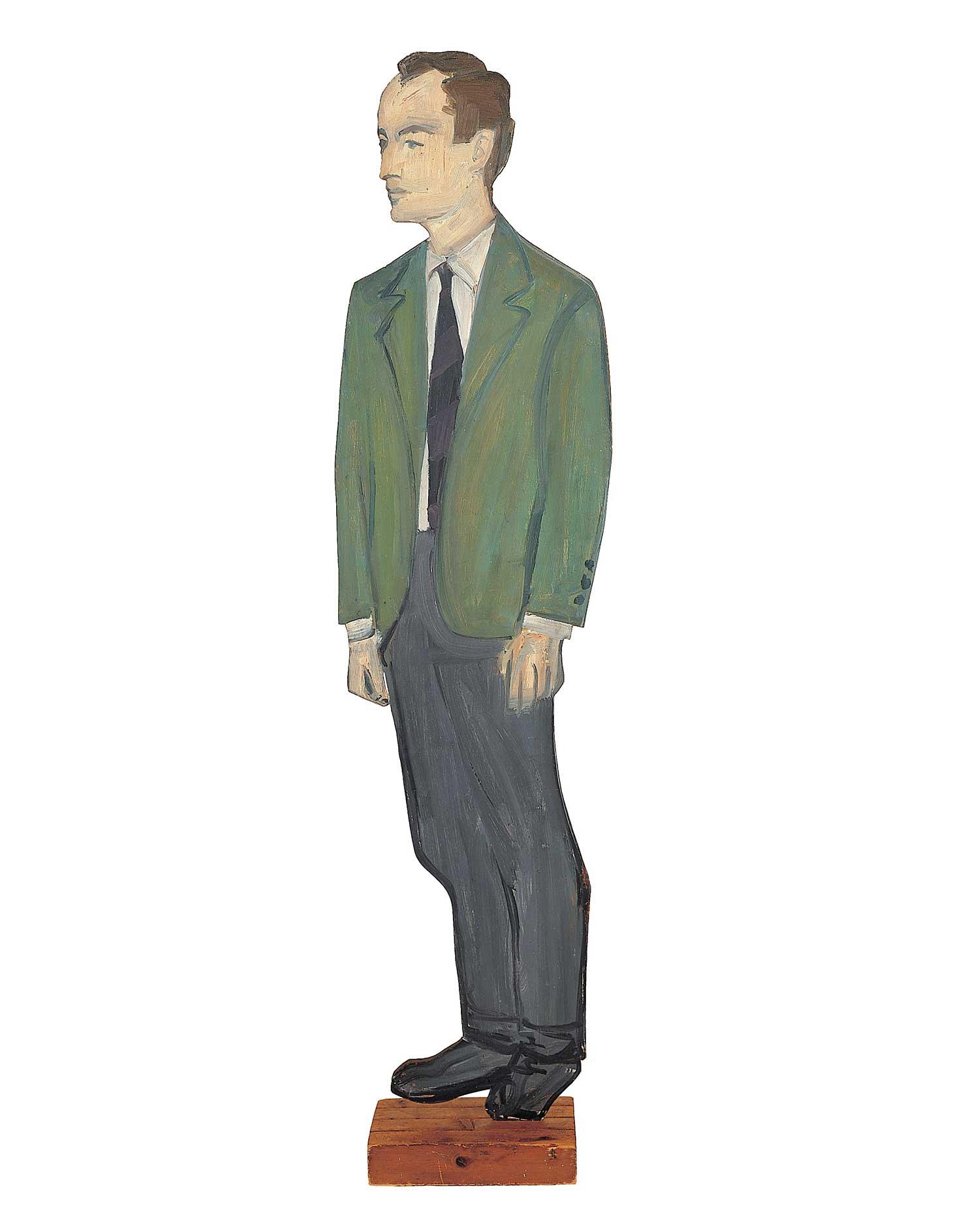 Alex Katz, Frank O'Hara, 1959–60. Private collection.