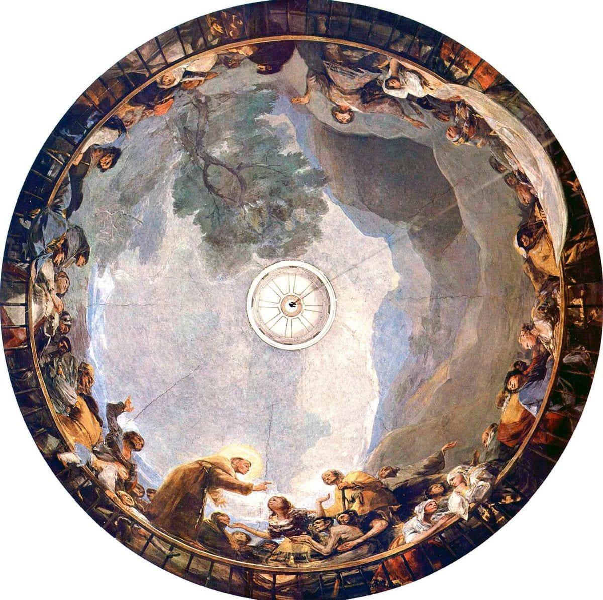 Goya, The Royal Chapel of Saint Anthony of La Florida frescoes, c.1798. Wikimedia Commons.