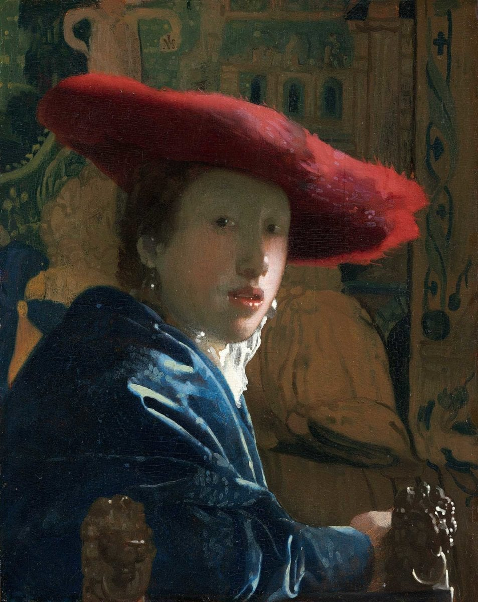 Johannes Vermeer, Girl with a Red Hat, c.1665. Courtesy Andrew W. Mellon Collection.
