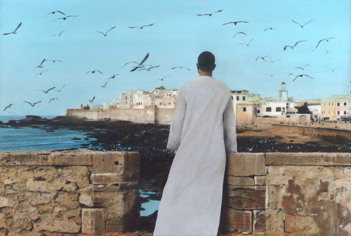 Youssef Nabil, Self portrait, Essaouira, 2011 with Galerie Nathalie Obadia Paris/Brussels