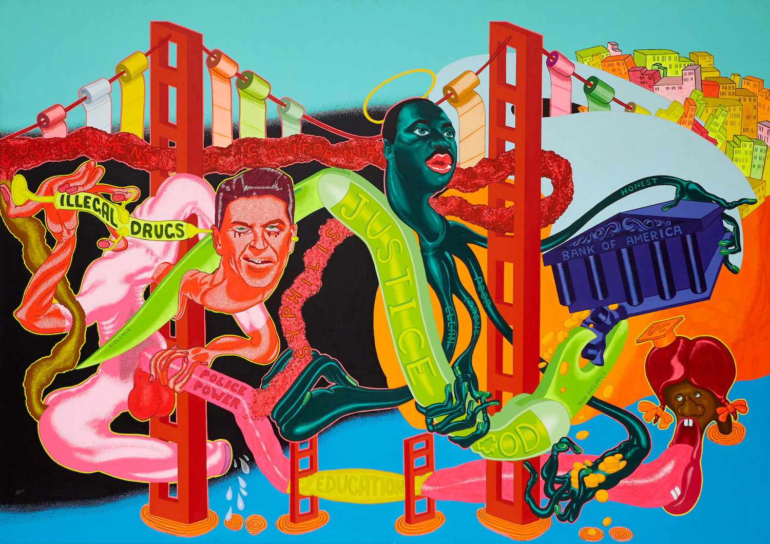 Peter Saul, Government of California, 1969. Collection of Brian Donnelly, New York © Peter Saul. Courtesy Mary Boone Gallery, New York