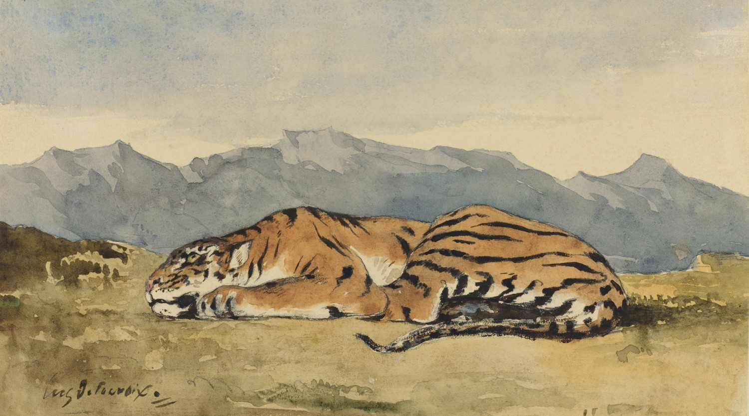 Eugène Delacroix, Tiger, c.1830, watercolour,