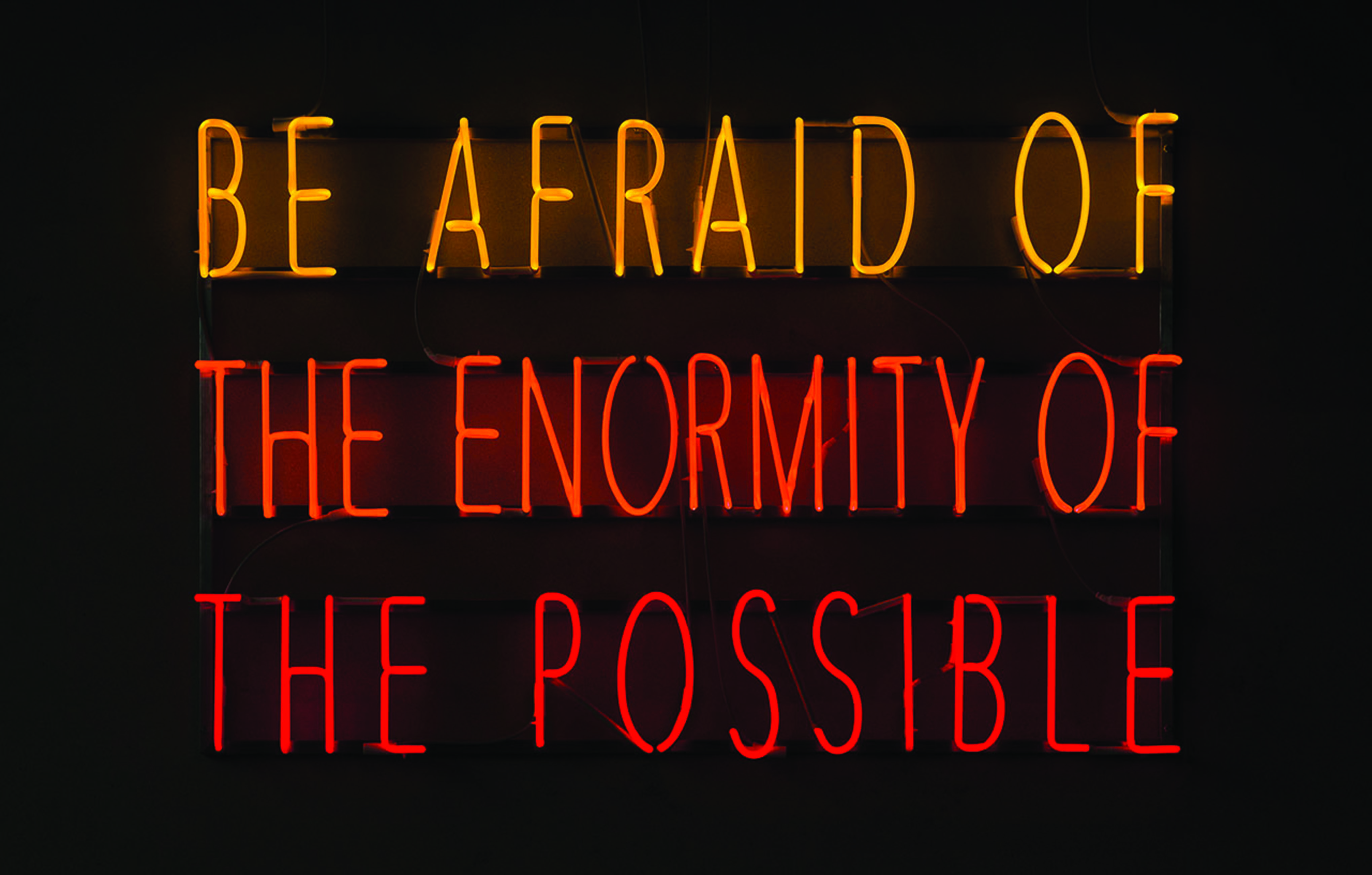 Alfredo Jaar, Be Afraid of the Enormity of the Possible, 2015. Courtesy Galleria Lia Rumma