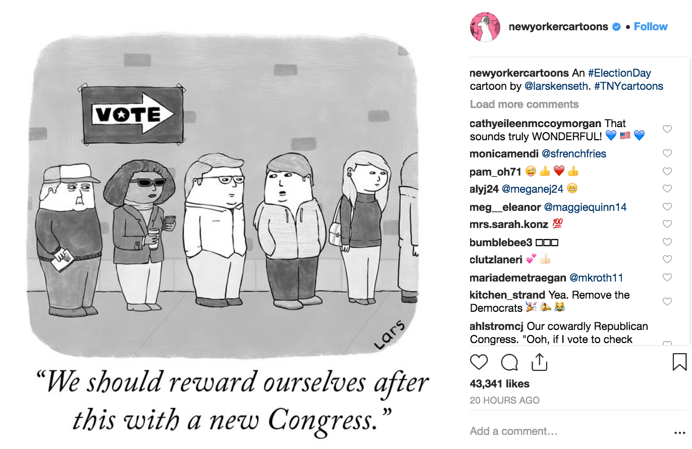 New Yorker Cartoons Instagram, screenshot