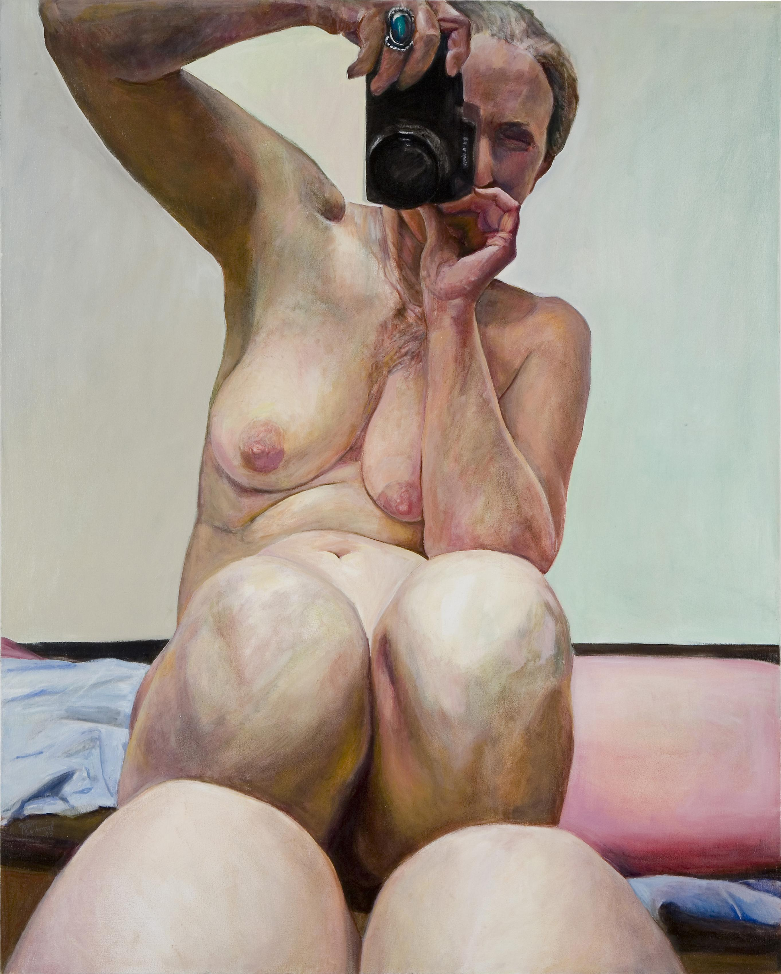knees together joan semmel nude portrait photograph artist painting painter