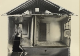 Gordon Matta-Clark Splitting, 1974 Collaged gelatin silver prints © The Estate of Gordon Matta-Clark / Artists Rights Society (ARS), New York Courtesy The Estate of Gordon Matta-Clark and David Zwirner