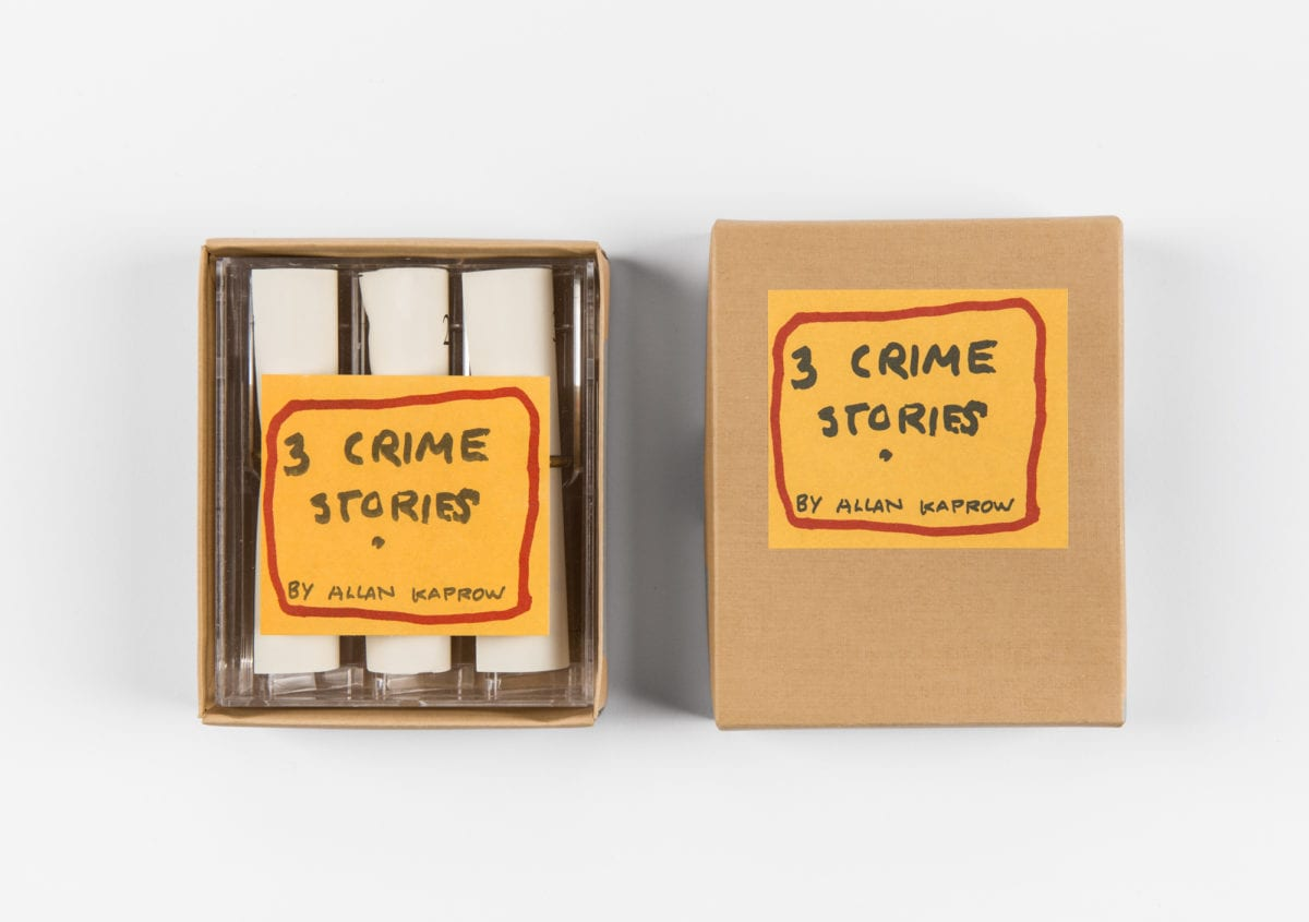Allan Kaprow, 3 Crime Stories, 1995, from  Supportico Lopez gallery.  Photo by Giorgia Palmisano. Courtesy of Archivio Conz, Berlin.