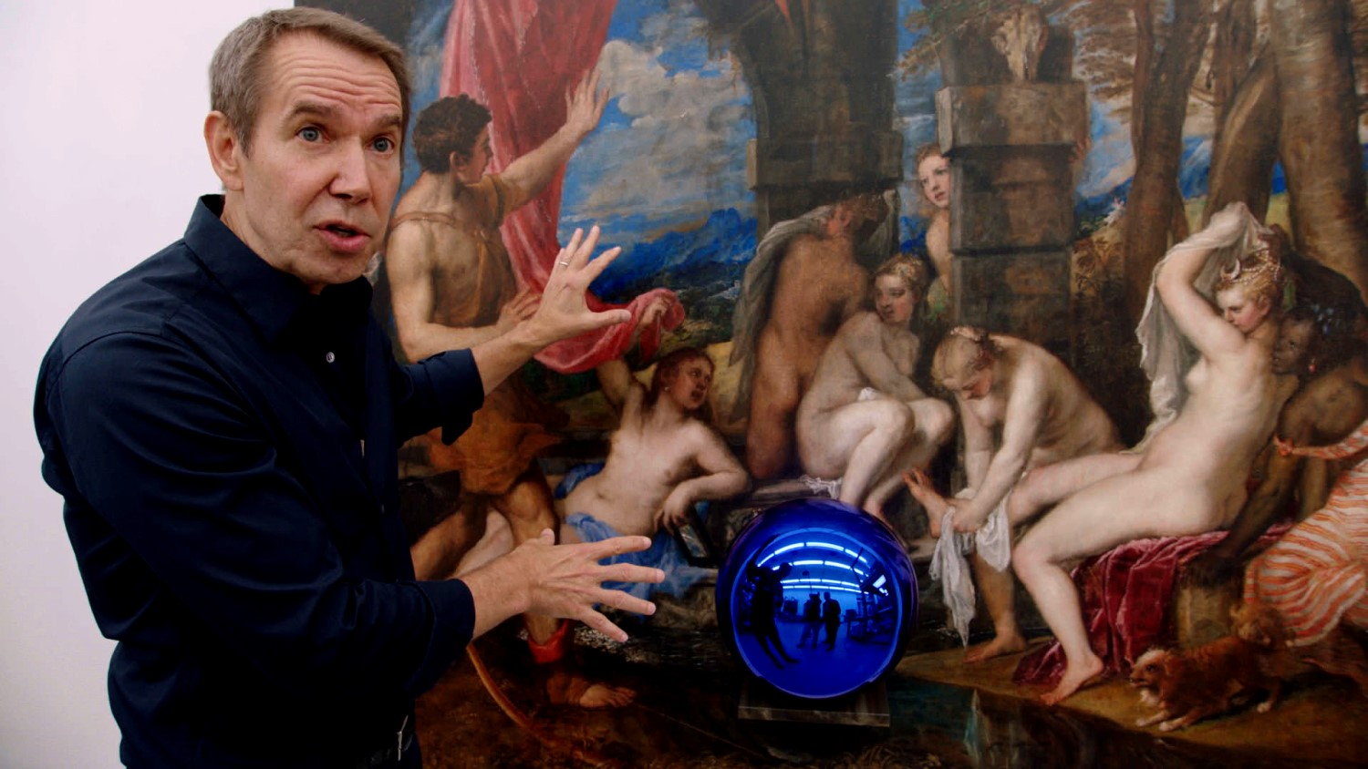 Jeff Koons, whose work rocketed in price from $950,000 to 65 million. The Price of Everything, Image copyright: Dogwoof