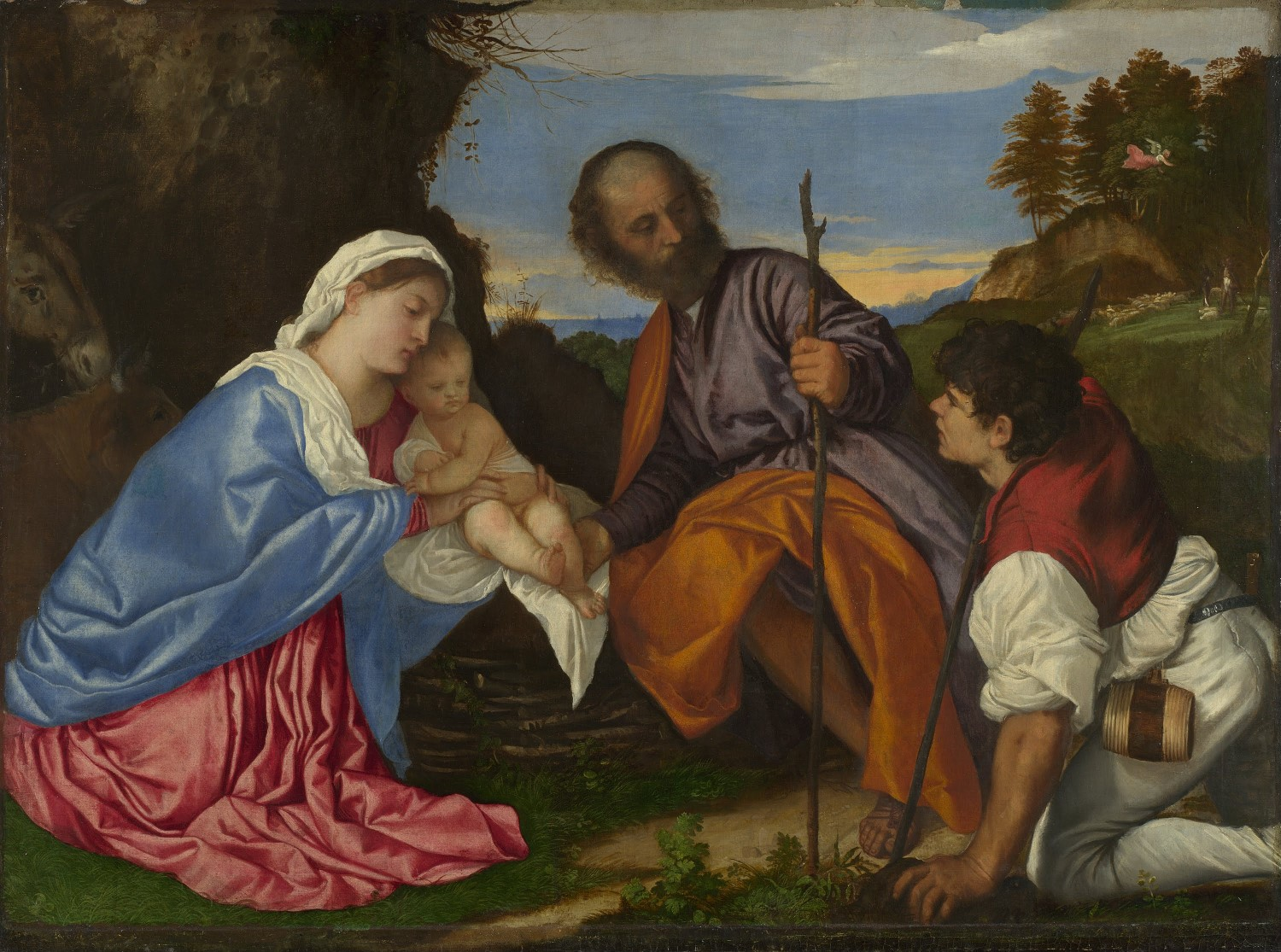 Titian: The Holy Family with Shepherd, c1510. Google Arts Project