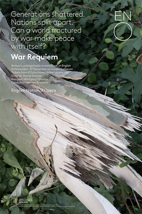 Poster for ENO's War Requiem