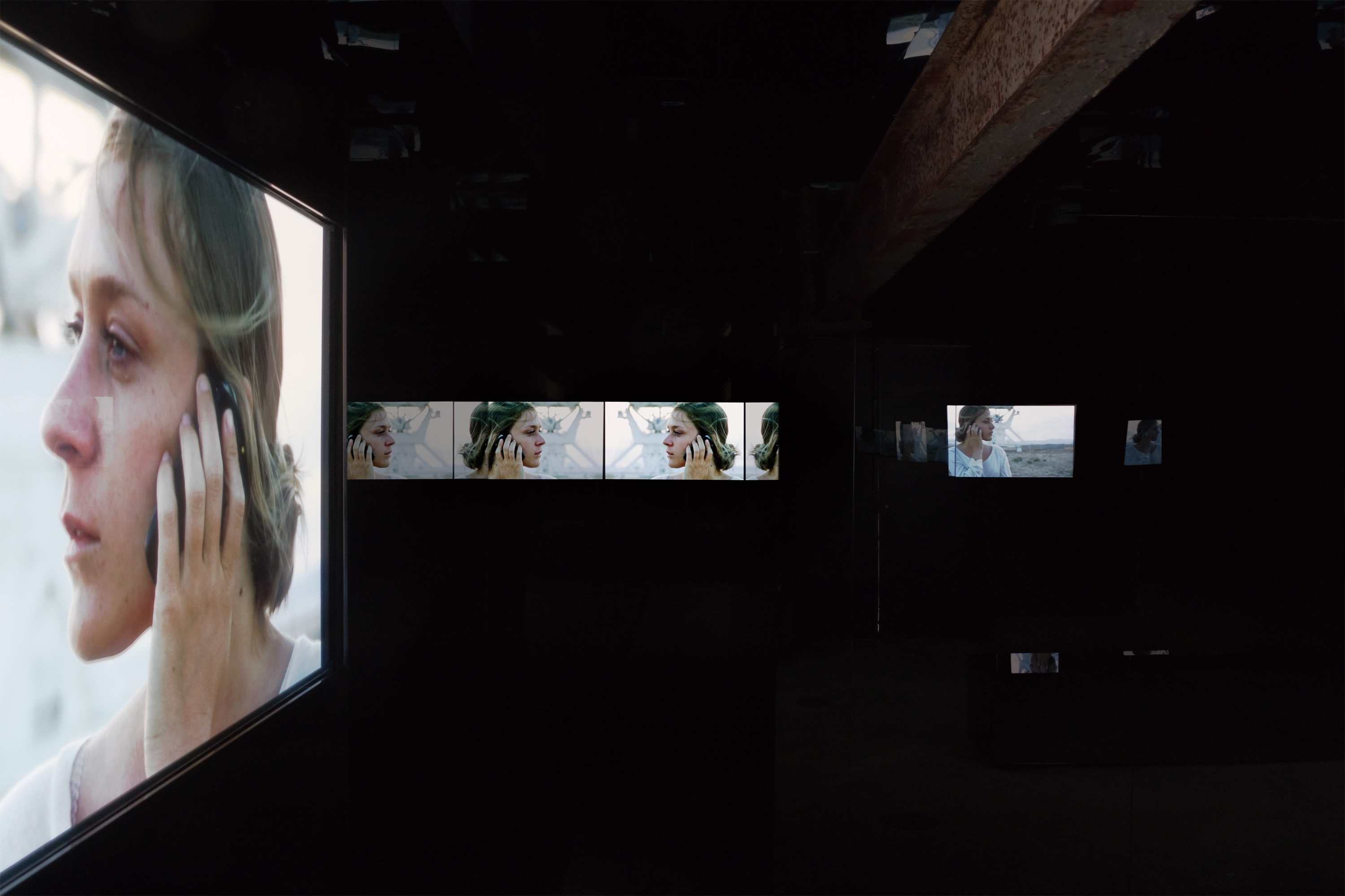 doug aitken jet set life portrayal video installation dark