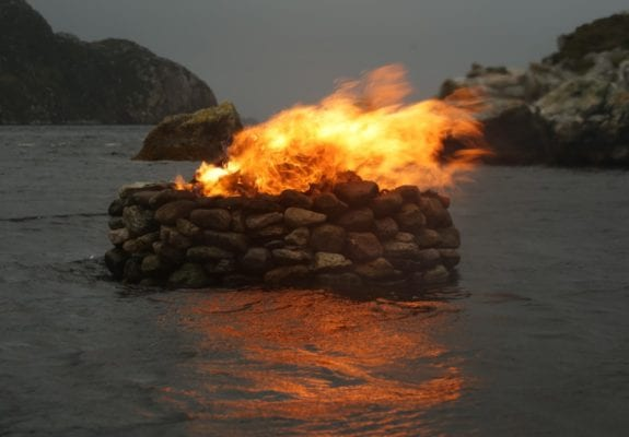 `Firestack, Autumn: Aird Bheag, outer Hebrides, 2017. By Julie Brook