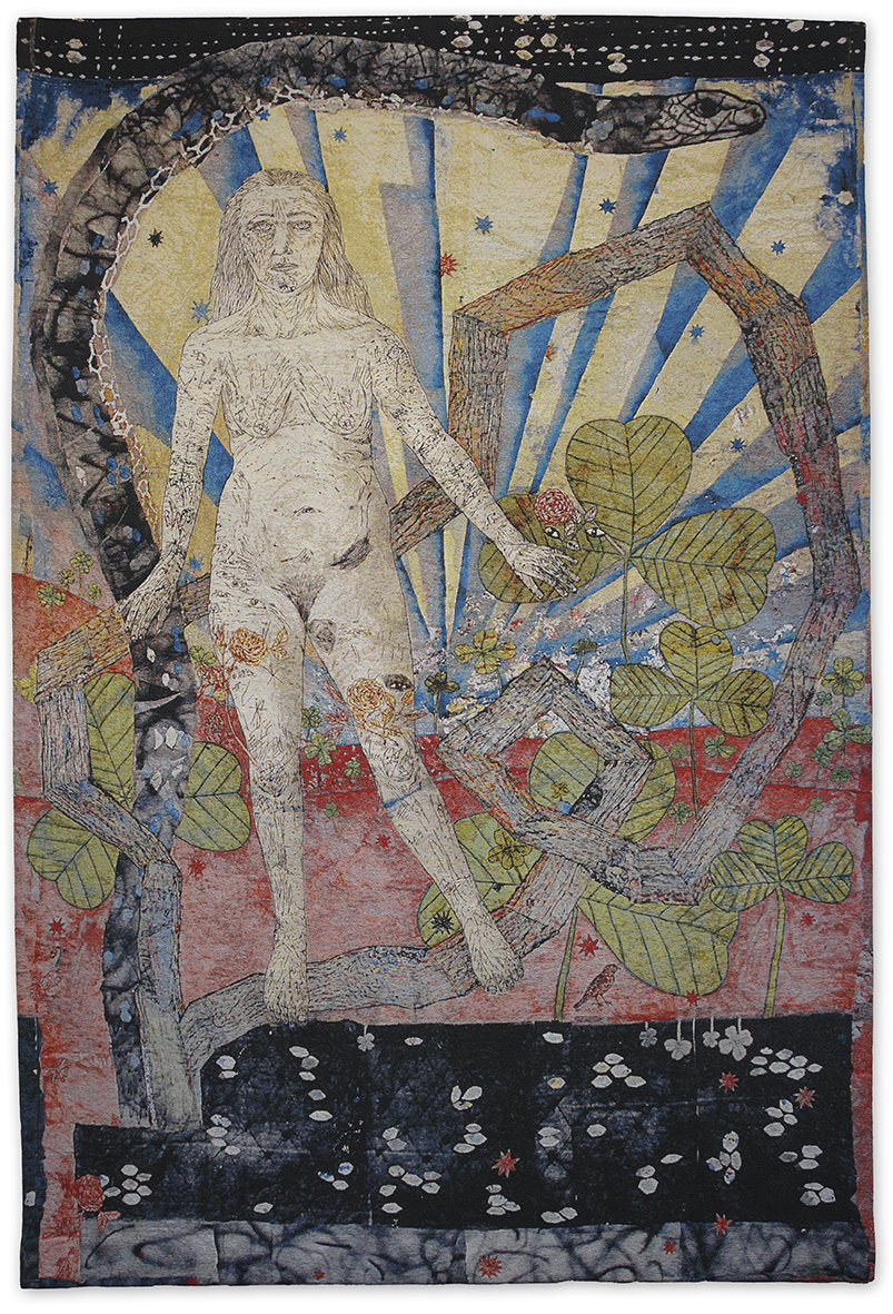 kiki smith weaving the woodland tapestry drawing nature body figure