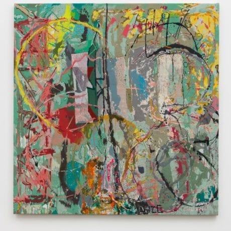 Fandango 2017, thread and ink on canvas. David Kordansky gallery