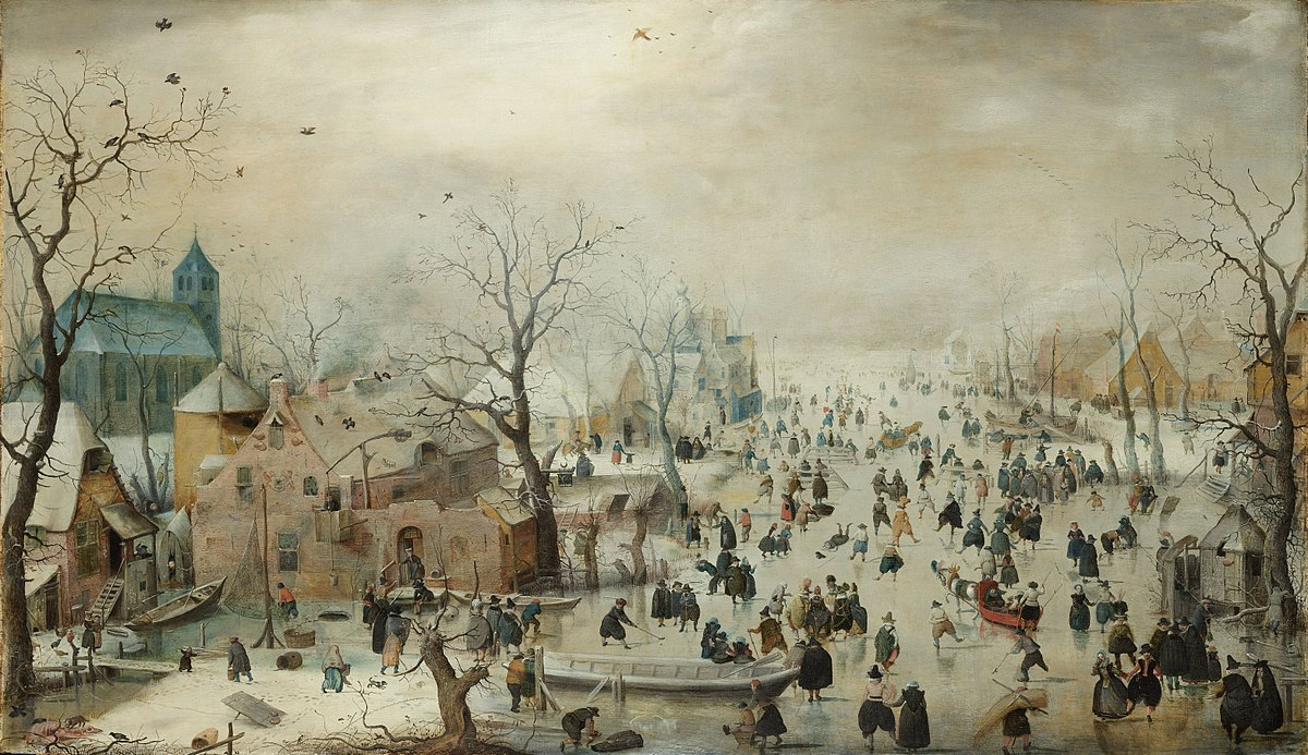 Hendrick Avercamp, Winter Landscape with Skaters, c1608
