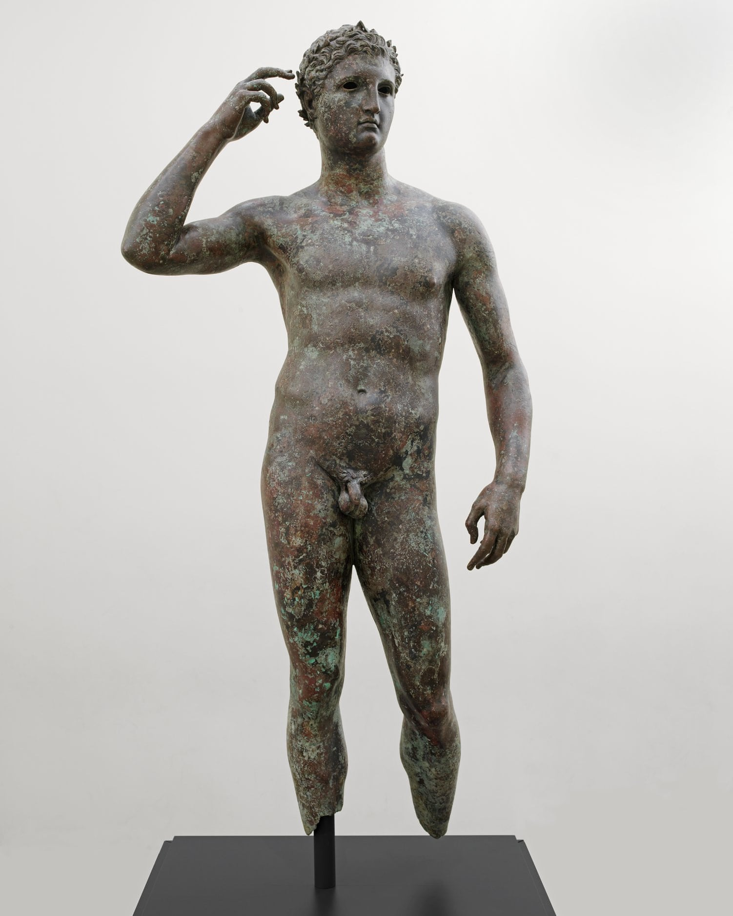 The ancient Greek statue of Victorious Youth