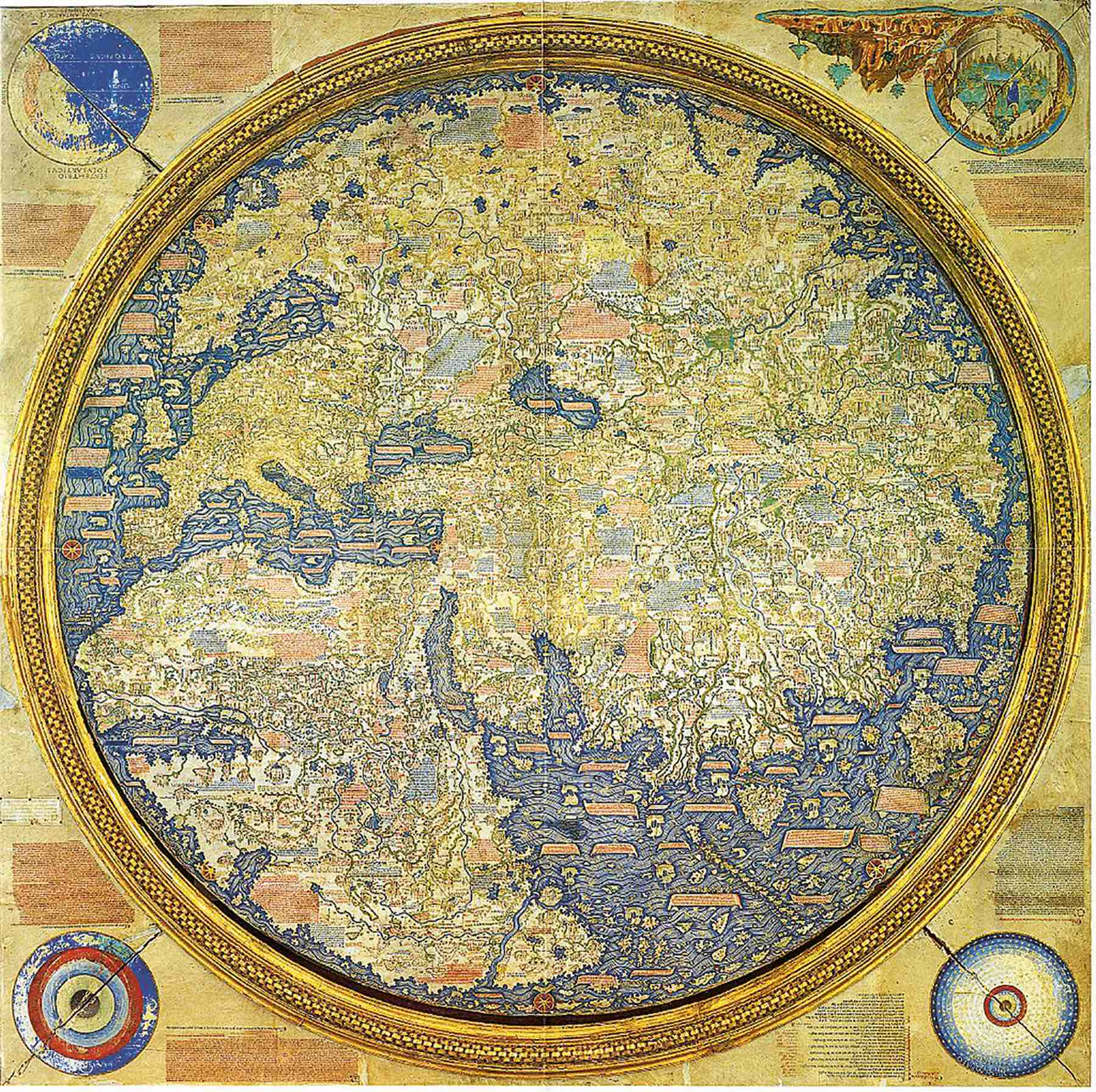 Fra Mauro World Map, c. 1450, facsimile by William Frazer, London and Venice, 1804. British Library, London.