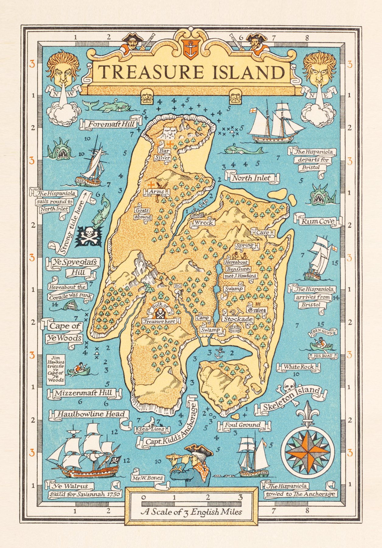 Map from Treasure Island by Robert Louis Stevenson. Cassell & Co.: London, 1899. British Library, London
