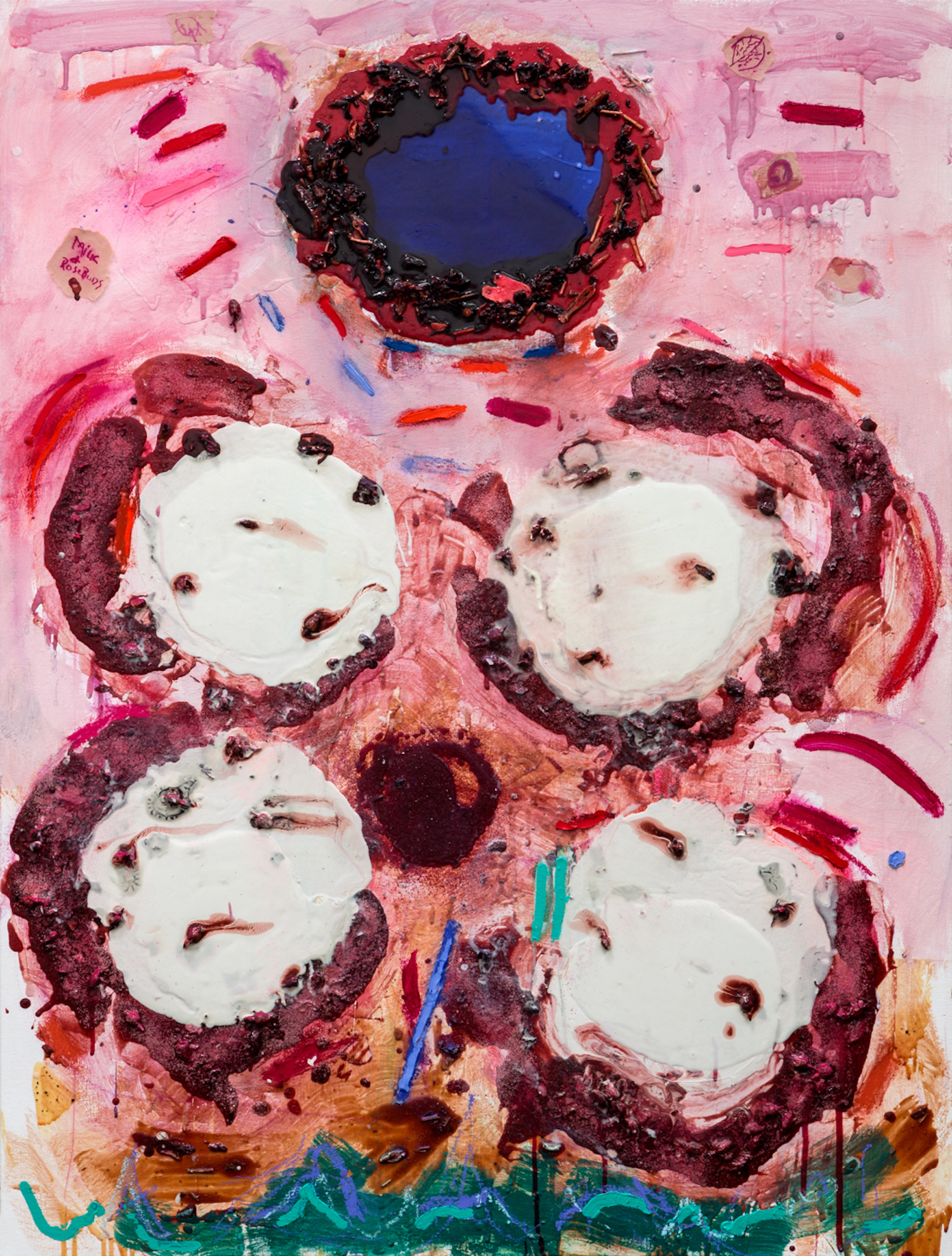 Joan Snyder, Milk + Rosebuds, 2018, Courtesy the artist and BlainSouthern