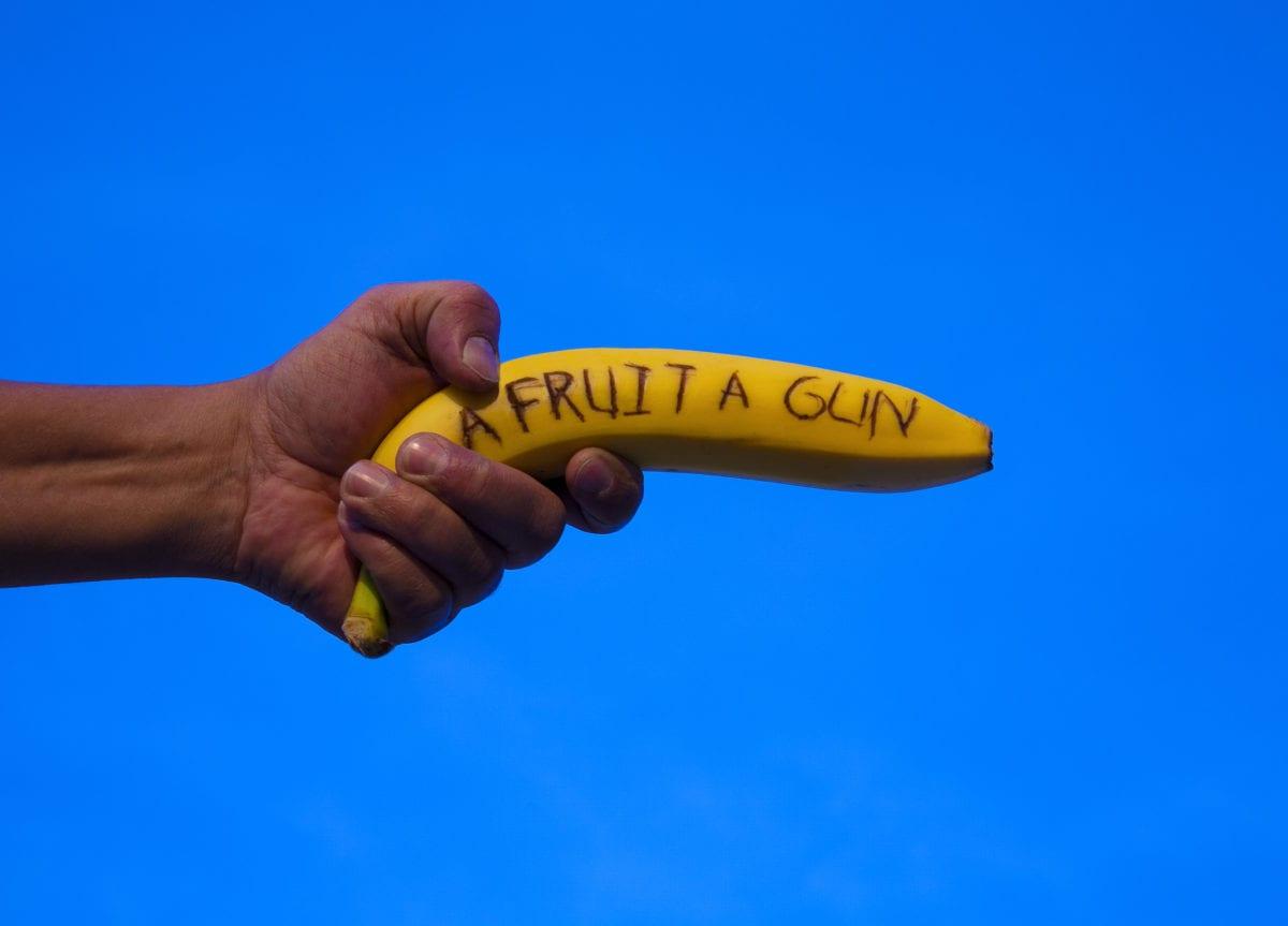 a fruit a gun