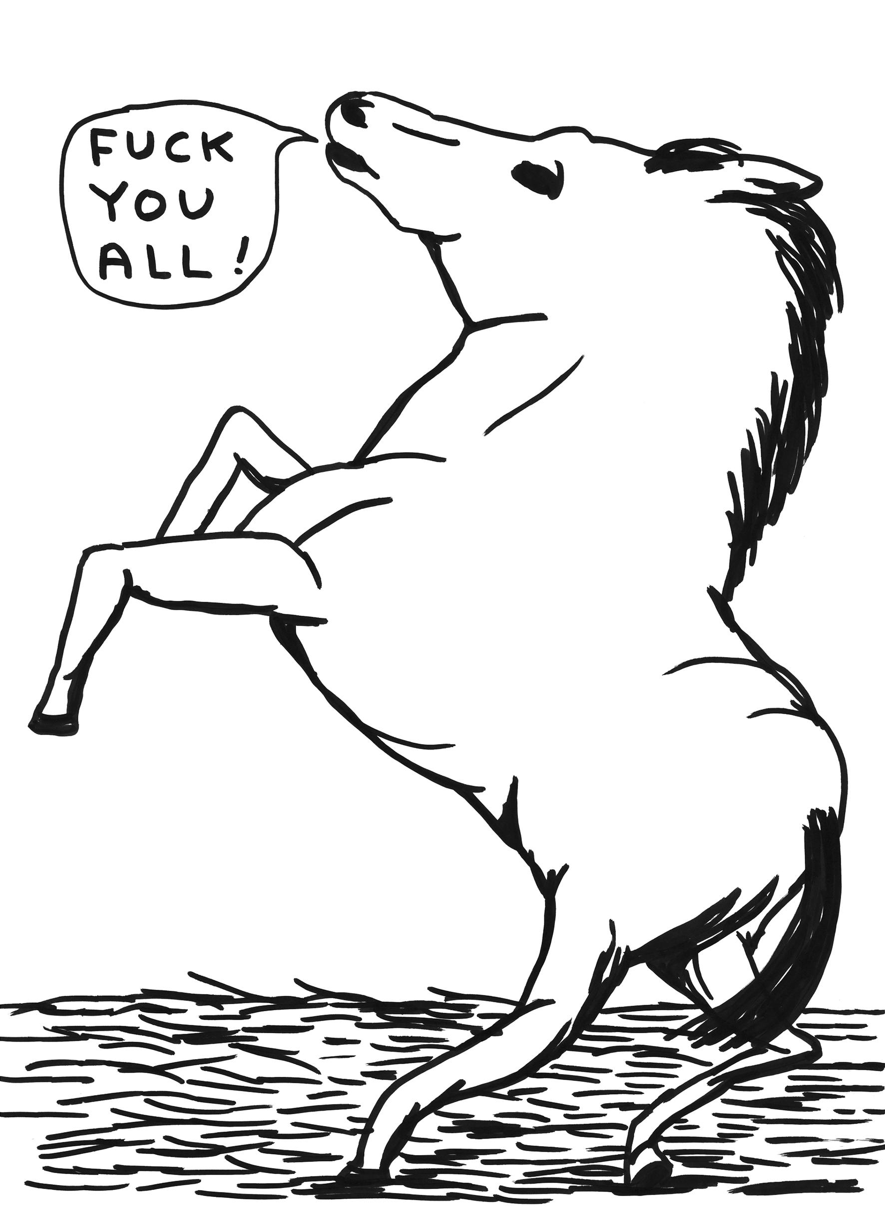 Fuck You All, by David Shrigley